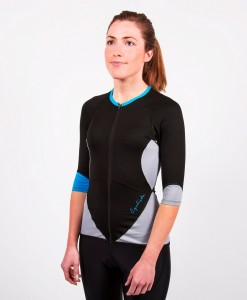 cyclista race blue jersey